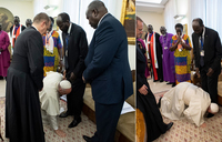 I trembled when the Pope kissed my feet — Salva Kiir