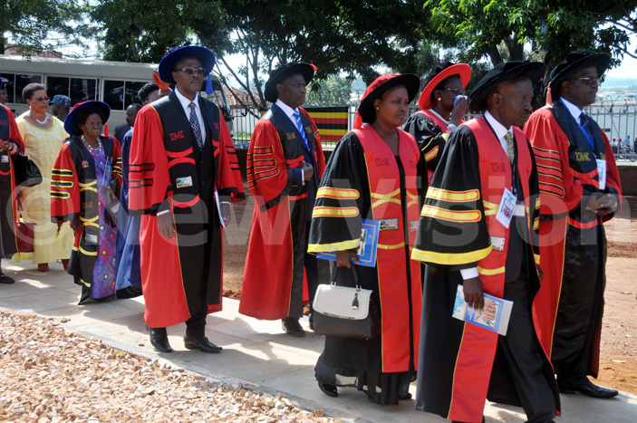 op dons of  in a procession ahead of the 15th graduation ceremony