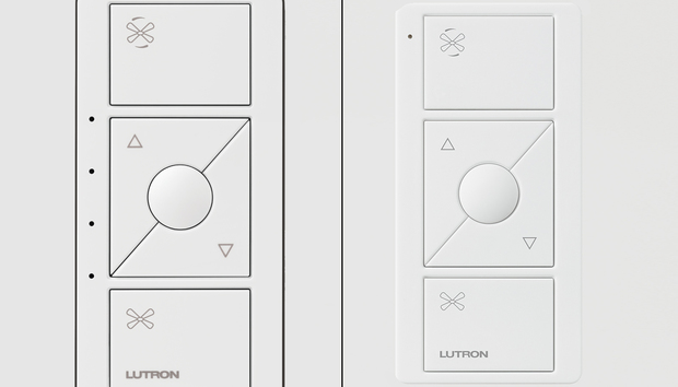 Lutron adds a smart ceiling fan controller to the Caséta line