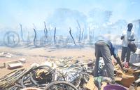 Fire from phone battery guts Amuria market