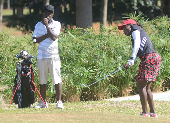 rene akalembe in action on ay wo at the ntebbe course hoto by ichael subuga