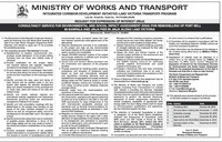 The Ministry of Works and Transport