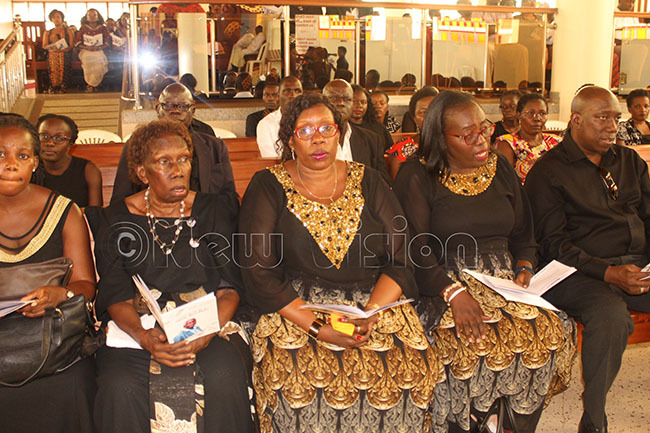 ome of the family members during the church service