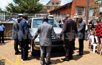 Museveni donates car to SDA archbishop
