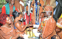 Mukono councilor weds in a shrine