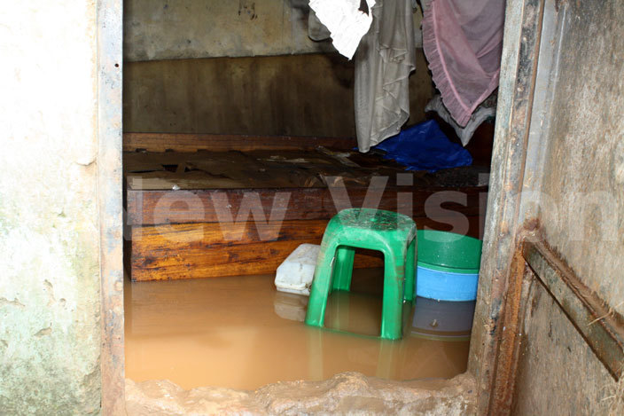 flooded room in abowa ubaga division