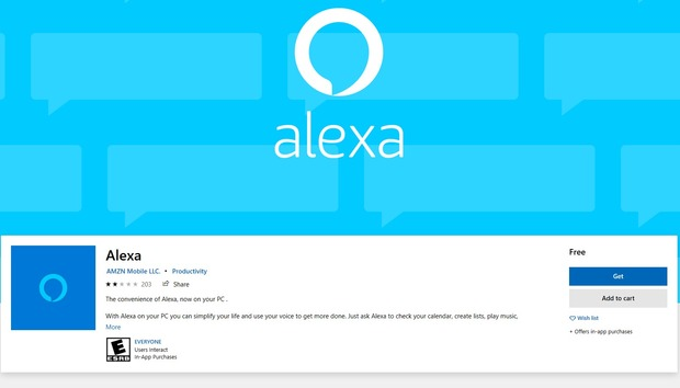 Amazon's Alexa app for Windows now listens for wake words, just like an Echo Dot