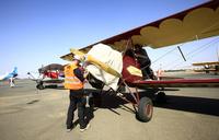 Vintage biplanes on cross-Africa trek land in Khartoum