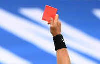 Red card warning for deliberate coughing in football