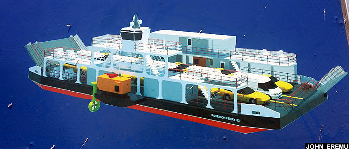 n artistic impression of the new ferry