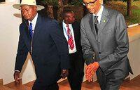 Museveni in Rwanda for Africa ICT meet