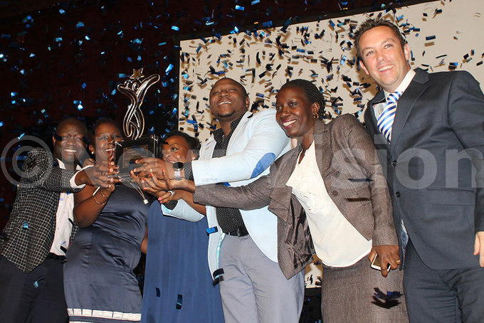 ganda reweries imited staff celebrates after being awarded the old inners