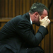 Oscar Pistorius breaks down in court