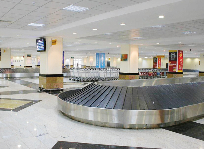he revamped arrivals lounge at ntebbe nternational irport