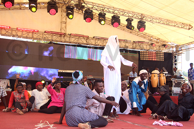 play about the resurrection of esus hrist is recited during aster celebrations at iracle entre athedral ubaga hoto by van abuye