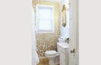Wallpaper up your bathroom