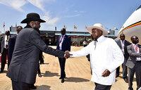Museveni in Juba for peace celebration day