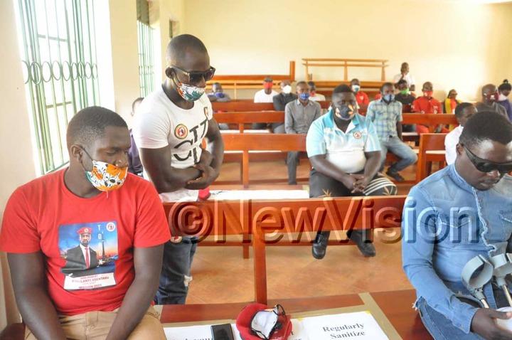 Zaake attending a court hearing in Mityana on Wednesday