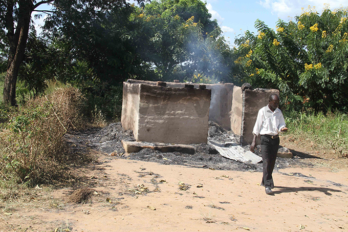 ne of the huts burnt in the homestead hoto by udson punyo