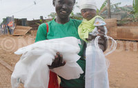 Kampala residents receive free mosquito nets