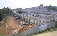 Slow work on Makerere indoor sports facility