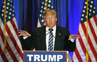Trump urges Republican unity as he eyes clash with Clinton