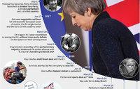 Brexit in dates: from Leave shock to crunch EU summit