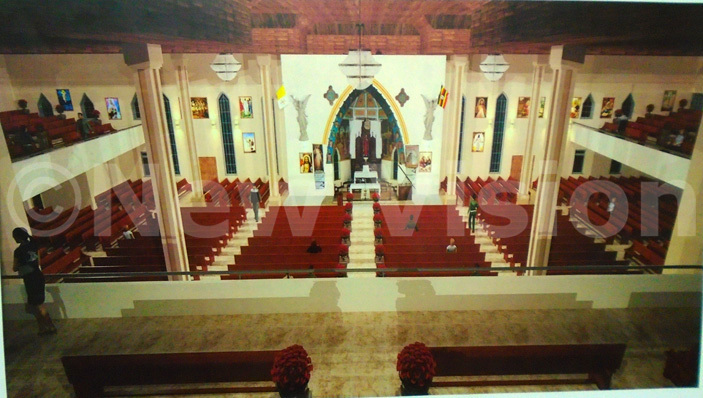 he artistic impression of the interior of the renovated hrist the ing hurch