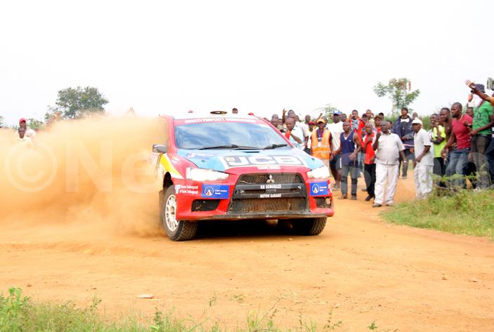 Rally ace Ssebuguzi in action.PHOTO: Johnson Were