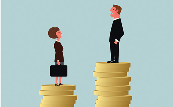 The gender pay gaps reported by pension related firms