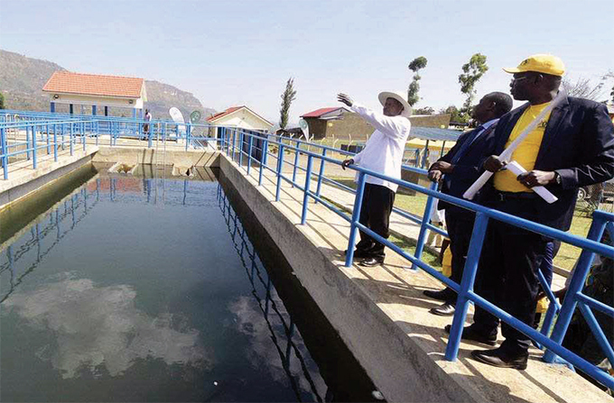 resident oweri useveni commissioning irima gravity water scheme last year