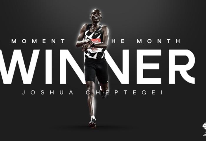 World Athletics votes Cheptegei Athlete of the Month