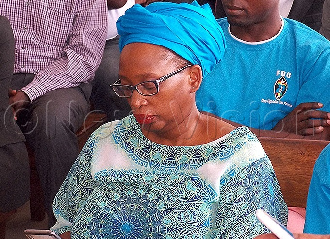 r tella yanzi seated in court listening to court proceedings in the agistrates attackers case hoto by ouglas ubiru