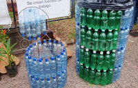 Make your own dustbin out of plastic bottles