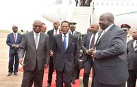 E.Guinea president arrives for NRM Day