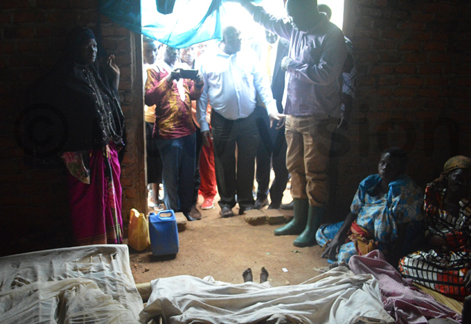 cweru joins mourners after four family members were killed in the storm hoto by om webayanga
