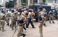 Pictorial: Police deploys at Kampala arcades