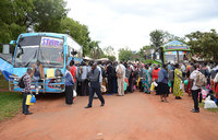 Buses ferry pilgrims from Lira to Kampala