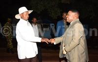 Museveni  attends Ebonies' concert
