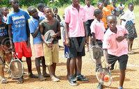 Spreading to the spirit of tennis in Bunyoro