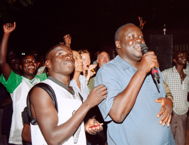 ira business tycoon am ngola right joins revelers during the two year passover fireworks celebrations at ira hotel in 2004
