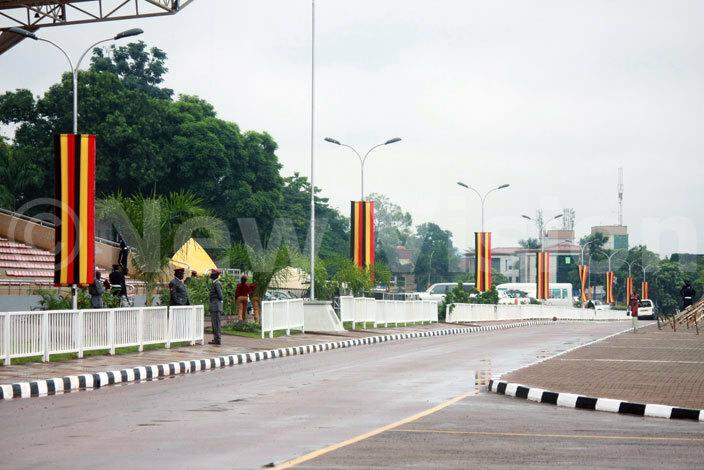 he ganda flag hangs on every street light pole at ololo airstrip hotodward isoma