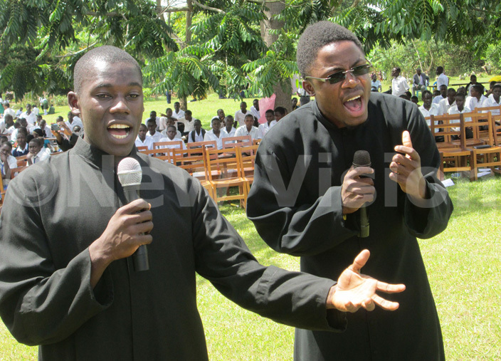 eminarians from aint baagas eminary gaba perform a gospel song