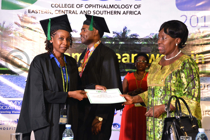 adaga awards one of the ophthalmology graduants utale yaywa hoto by iriam amutebi