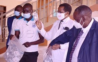 COVID-19: UMA donates protective equipment to Mbarara hospital