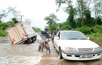 Floods cut off import entry at Malaba