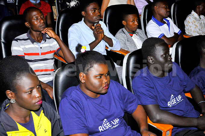 cross section of refugees during the inaugural isep for efugees orum public dialogue held at akerere niversity he refugees launched the training in entrepreneurship than relying of donations hoto by ilfred anya