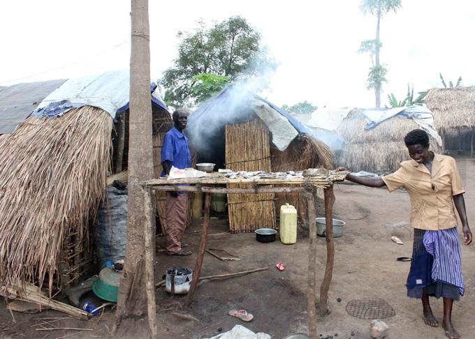 akeshift housing units in wamutonga camp hoto by bou isige