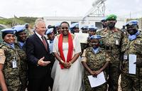 AMISOM commends Ugandan troops in Somalia