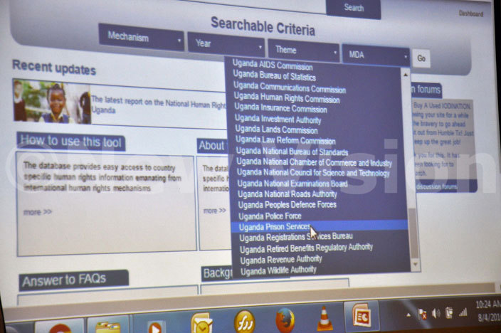 he outlook of database search for all government ministries departments and agencies